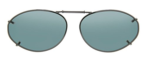 Cocoons Polarized Clip-on Oval 6 L6158G Sunglasses, Gunmetal, 50 - On Clip Cocoon Sunglasses