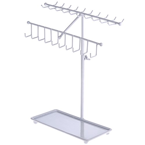 Metal 30-Hook Necklace Bracelet Storage Organizer Jewelry Tree Hanger Display Rack (Display Hanger)