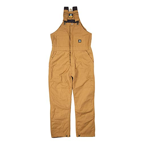 Berne Men's Deluxe Insulated Bib, Brown, Large/Regular ()