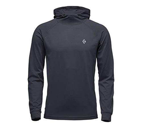 Black Diamond Long Sleeve Alpenglow Hoody - Men's, Black, Large, AP7520200002LRG1