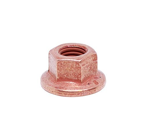 (12pcs) M7X1.0 Metric Copper Plated Exhaust Flange Locking Nut by BelMetric NCF7X11