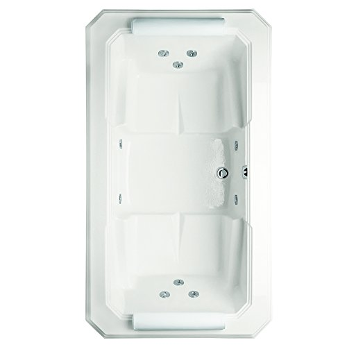 [Hydro Systems MYS7844AWP-WHI-WOV.SN Mystique Acrylic Tub with Whirlpool System (Drain Included), White/Satin Nickel] (Hydro Systems Whirlpool Tub)