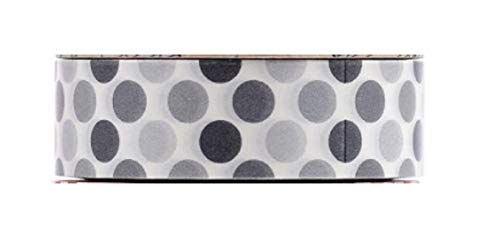 (Black White and Grey Polka Dots Design Print Decorative Tape Roll - Great for Decorating Scrapbooking Craft Projects Notebooks Planner Journal DIY Packing Wrapping Presents)