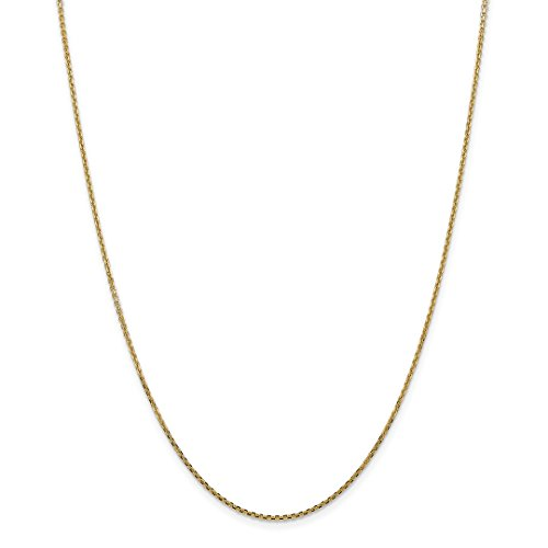 ow Gold 1.45mm Solid Link Cable Chain Necklace 18 Inch Pendant Charm Round Fine Jewelry Ideal Gifts For Women Gift Set From Heart ()