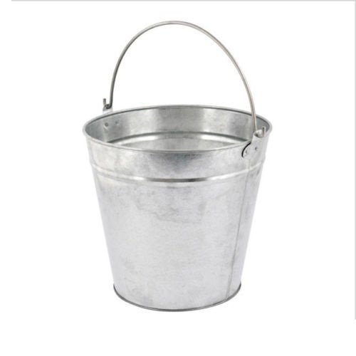 9L 12L 15L 18L Litre Metal Bucket Galvanised Water Fire Coal Home Garden Bathroom Cleaning Storage Bucket (9 Liter) UK