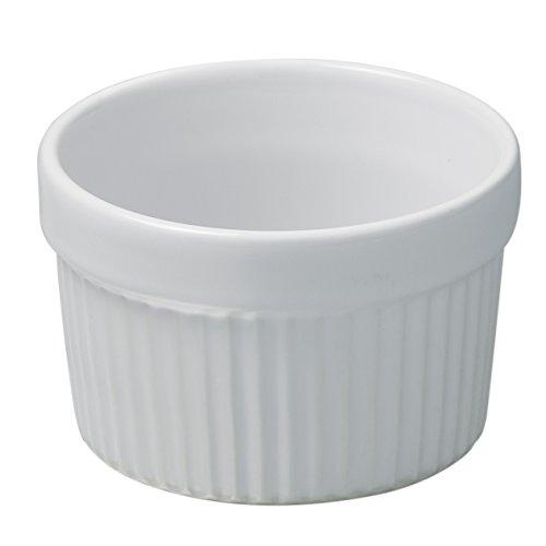 Revol French Classiques White Porcelain 5.75 Ounce Ramekin, Set of 6
