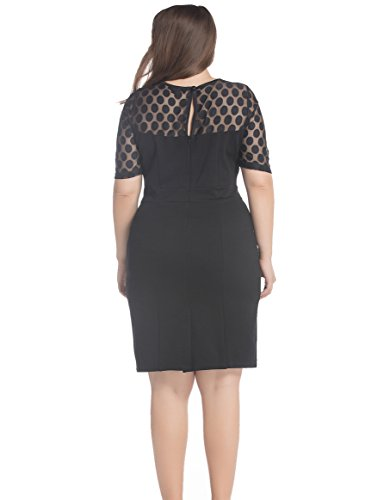 c73437002ae Chicwe Women s NR Ponte Plus Size Shift Dress with Jacquard Lace ...