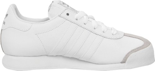 adidas Originals Men's Samoa Retro Sneaker,White/Silver,9.5 D