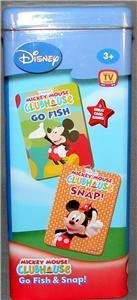 Disney Mickey Mouse Clubhouse Card Games in Tin Go Fish Snap Go Fish Tin