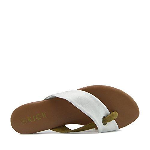 Kick Estivo Donna Comfort Cuoio di Bianco Footwear Sandali tqrSxtZ