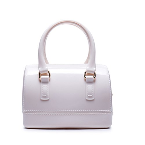Caleen6 Handle Top Shoulder Bag Bag shaped White Women Charming Tote Jelly Pillow anar8q