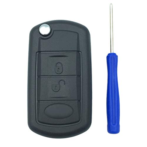 Replacement Key Fob Case Shell for Range Rover Sport Land Rover Discovery LR3 Flip Folding Keyless Entry Remote Car Key Fob Cover