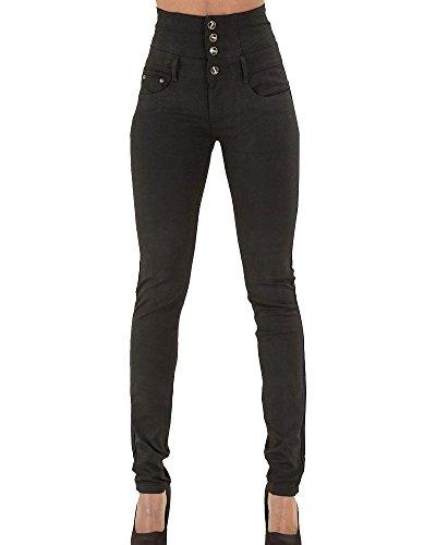 Skinny Slim Pantaloni Vita Nero Fit Donna Denim Alta Jeans Elasticizzati Legging qxt1HwPt6W