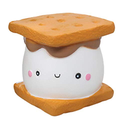 2019HoHo Adorable Squeeze Toys for Kids Adults Biscuit Cake Stress Anxiety Relief Toys Soft Squishy Vent Toys