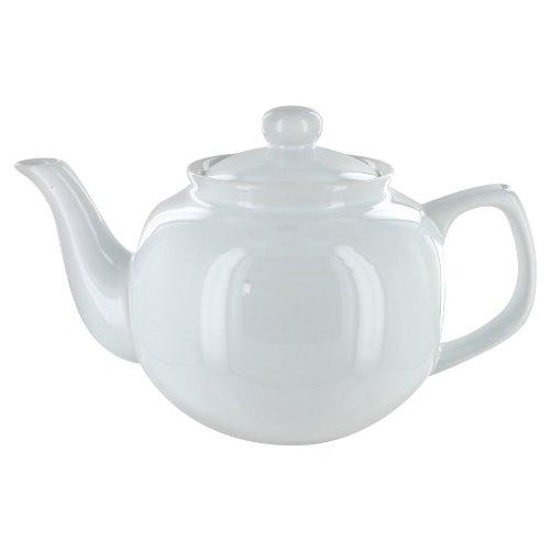 English Tea Store 6 Cup Teapot White Gloss Finish
