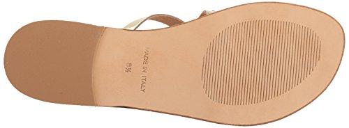 Steve Madden Womens Becky Toe Ring Sandal Gold Leather