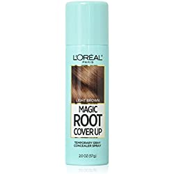 L'Oreal Paris Hair Color Root Cover Up Temporary Gray Concealer Spray, Light Brown, 2 Count (Packaging May Vary)