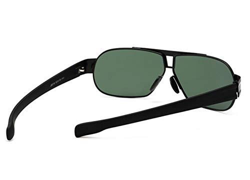 gafas para Huyizhi marco libre al unisex aire viajar Guay Black la metal del Gafas sol polarizadas del pesca de sol de de H0AvrZBHq