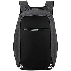 XINGTIANDI Men Backpack Anti theft multifunctional Oxford Casual Laptop Backpack,Black B