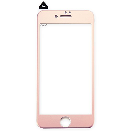 """Cyxus [Full Coverage] 3D Curved Titanium 9H Tempered Glass Screen Protector for Apple iPhone 8 plus/iPhone 7 Plus (5.5"""") [Edge to Edge Protection] (Rose Gold / Pink)"""