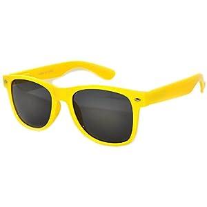 Retro Style Yellow Frame Vintage Smoke Lens Sunglasses for Ladies