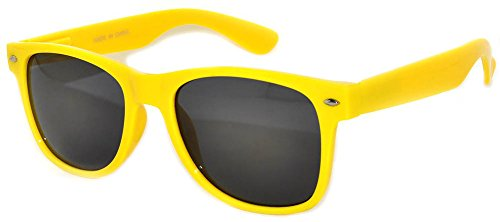 Retro Style Yellow Frame Vintage Smoke Lens Sunglasses for - Light Pink Sunglasses