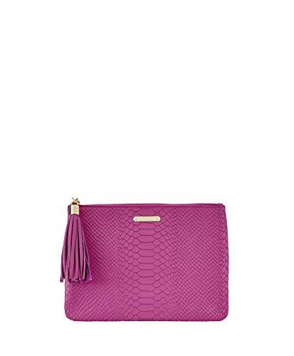 GiGi New York Women's All in One Embossed Python Bag Peony ()