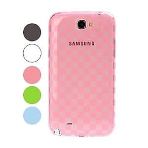 FJM Grid Pattern TPU Soft Case for Samsung Galaxy Note 2 N7100 , Blue