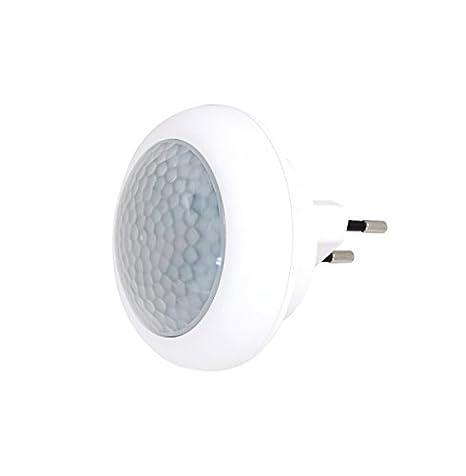 Enchufe Luz nocturna Detector de movimiento Sensor Lámpara Luz de emergencia 8 LED 0,6 W: Amazon.es: Iluminación