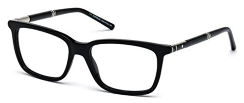 MONTBLANC MB 0489 Eyeglasses 001 Shiny - Black Eyeglasses 001