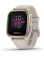 Garmin Venu SQ Smartwatch, gezondheid, geïntegreerde GPS, multisport, cardio, pols, muziekgeheugen, Garmin Pay, lange looptijd, licht zand/roségoud, wijzerplaat 40 mm, 010-02426-11