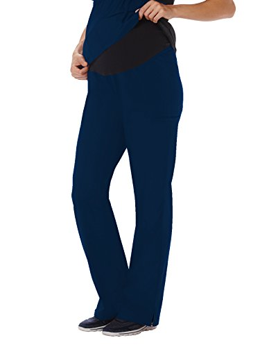 White Swan Fundamentals 14378 Women's Maternity Scrub Pant with Stretch Panel Navy XL