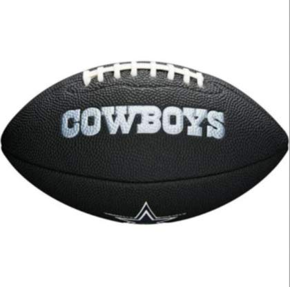 (NFL Team Logo Mini Football, Black - Dallas Cowboys)