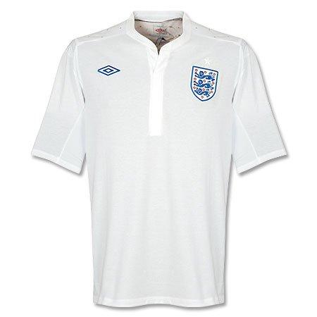 "10-11 England Home Jersey-42"""