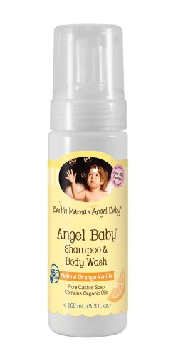 Earth Mama Angel Baby Organic Angel Baby Shampoo & Body Wash, 5.3-Ounce Bottles (Pack of 3) - Castile 3 Light