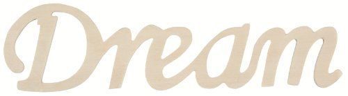 Darice 9110-15 Wood Script Word, Dream (Words Wooden Decor)