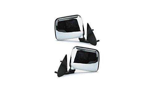 Mirror Pair for 95-97 Nissan Pickup Left & Right Chrome