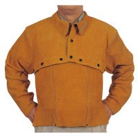 Leather Cape Sleeves, Snaps Closure, X-Large, Golden Brown (4 Pack)
