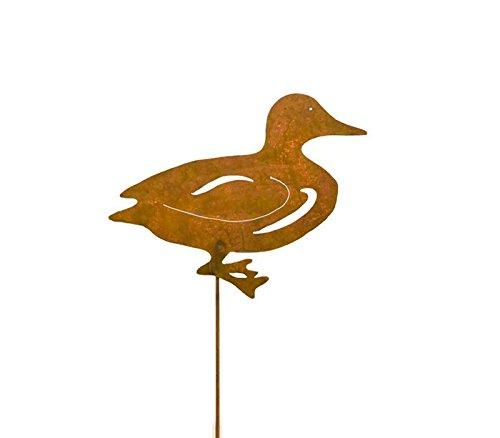 Duck Decorative Metal Garden Stake, Whimsical Yard Art!