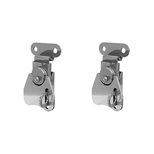 TCH Hardware 2 Pack Small Steel Padlockable Twist Latch & Keeper - Toggle Clamp Catch Case Box Chest Lock