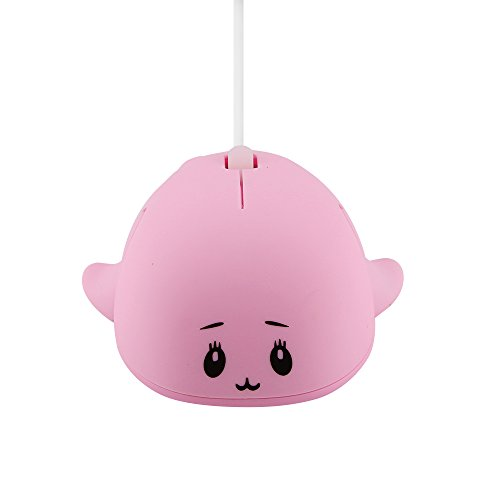 EALEK Cute Animal Baby Dolphin Shape USB Wired Mouse Optical Mice Mini Small Mice for Kids Children for PC Laptop Computer,1200DPI 3 Buttons ()