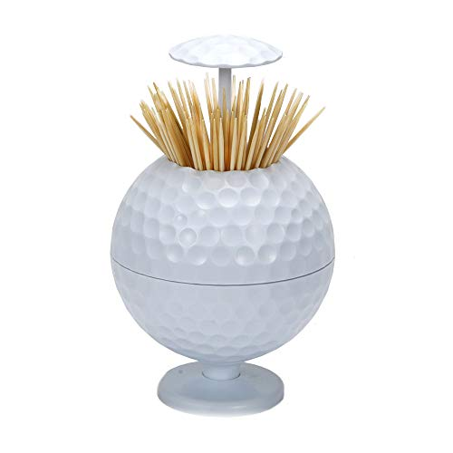 China Toothpick Holder - PLAYEAGLE Golf Ball Shaped Automatic Toothpick Holder Pop-up Novelty Gift Indoor & Cars Golf Decoration
