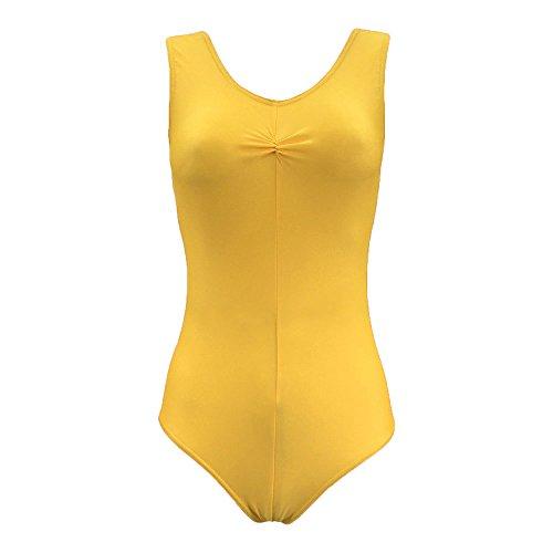 Starlite Nylon Lycra Justaucorps Angela yellow