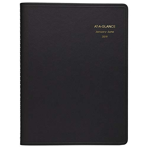 AT-A-GLANCE 2019 Daily Appointment Book, 8-1/2'' x 11'', Large, Eight Person Group Planner, Black (7021278) by At-A-Glance