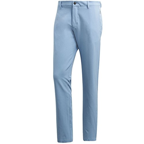 (adidas Golf 2018 Ultimate 365 3-Stripe Trousers Stretch Mens Performance Pant Tapered Leg Ash Blue 30x32)