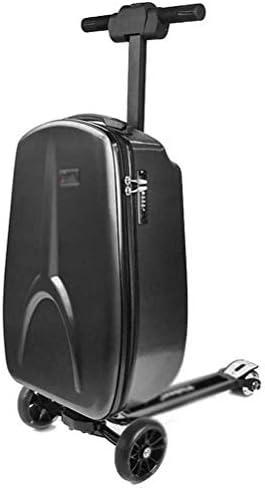 2020電動通勤スクーター、20インチ電動スーツケース、ポータブルスマートライディングトラベルスーツケースは、子供用の取り外し可能なUSB電動スクーターで荷物を運ぶキックスクーター通勤電動スクーターーブラック公道走行可能ンクボード本体 キックスク大人バイク本体 バランススクーター 電気キックスクーター電動ウォーキングスーツケース
