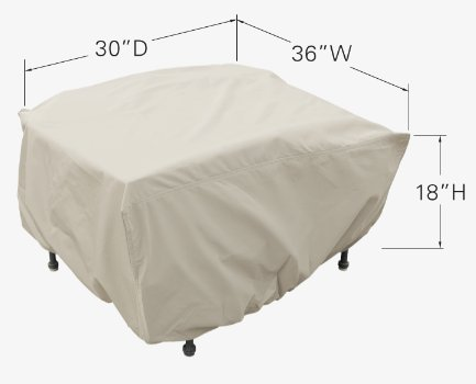 Treasure Garden Large Ottoman with elastic - Protective Furniture Covers