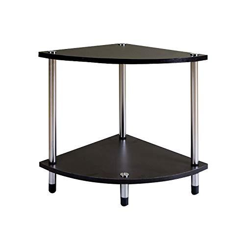 コーヒーテーブルソリッドウッド三角テーブルは、リビングルームコーナーに適した棚にも使用できますバルコニーレジャーテーブル (色 : A) B07KJMX5X1 A