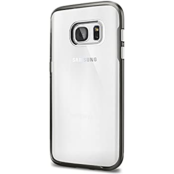 Spigen Neo Hybrid Crystal Galaxy S7 Case with Flexible Inner Casing and Reinforced Hard Bumper Frame for Samsung Galaxy S7 2016 - Gunmetal