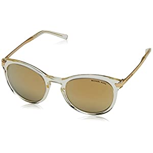 Michael Kors ADRIANNA III MK2023 Sunglasses 31667P-53 - Champagne Gold Frame, Liquid Gold